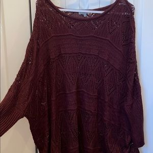 Maroon M/L Charlotte Russe see through sweater